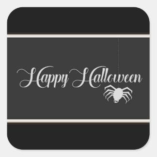 Happy Halloween Typography Square Sticker