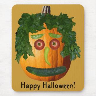 Happy Halloween - Uncut Pumpkin Face Mouse Pad