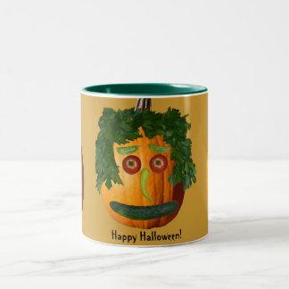 Happy Halloween - Uncut Pumpkin Face Two-Tone Mug