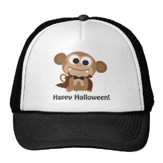 Happy Halloween Vampire Monkey Hat