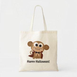 Happy Halloween Vampire Monkey Tote Bag