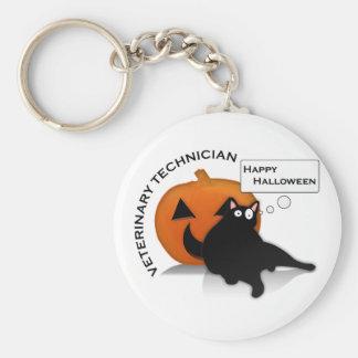 Happy Halloween Vet Tech! Key Ring