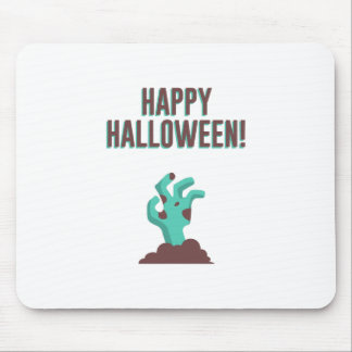 Happy Halloween Walking Dead Zombie Corpse Design Mouse Pad
