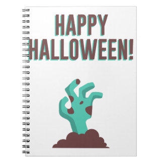 Happy Halloween Walking Dead Zombie Corpse Design Notebook