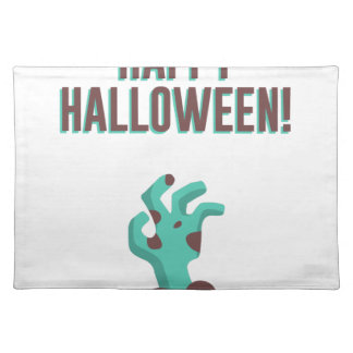 Happy Halloween Walking Dead Zombie Corpse Design Placemat