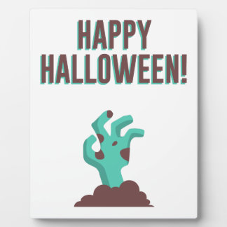Happy Halloween Walking Dead Zombie Corpse Design Plaque