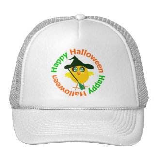 Happy Halloween Witch Chick Hat