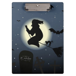 """""""HAPPY HALLOWEEN"""" WITCH CLIPBOARD"""