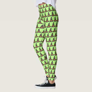 Happy Halloween Witch Hat Trick or Treat Costume Leggings
