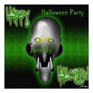 Happy Halloween Witch Invitation