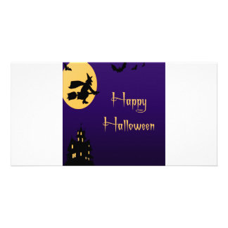 Happy Halloween Witch Photo Card