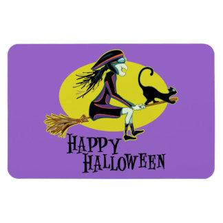 Happy Halloween Witch Vinyl Magnets