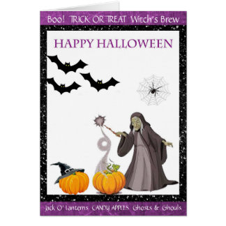 Happy Halloween Witches Brew Card
