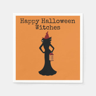 Happy Halloween Witches Cocktail Napkins For Adult Disposable Napkins