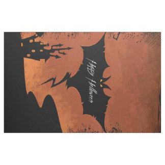 Happy Halloween with devil bat Fabric