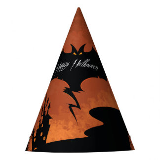 Happy Halloween with devil bat Party Hat
