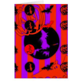 Happy Halloween with electric Colors !!!!!!! Card