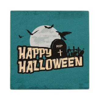 Happy Halloween Wood Coaster