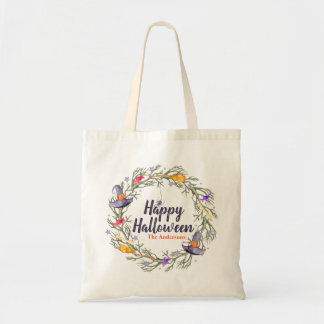 Happy Halloween Wreath Personalized | Tote Bag