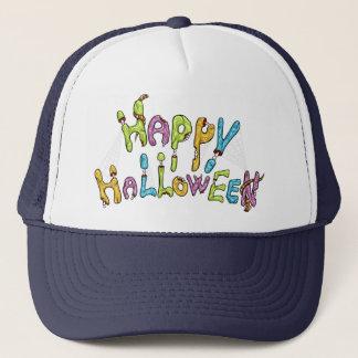 happy halloween - zombie graffiti trucker hat