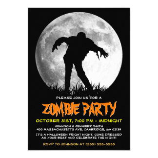 Happy Halloween Zombie Rises Apocalypse Party 13 Cm X 18 Cm Invitation Card