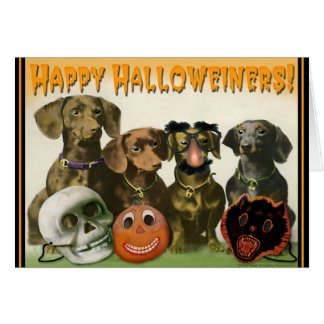 Happy Halloweiners Greeting Card