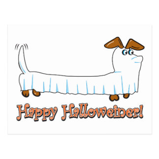 Happy Hallowiener Postcard