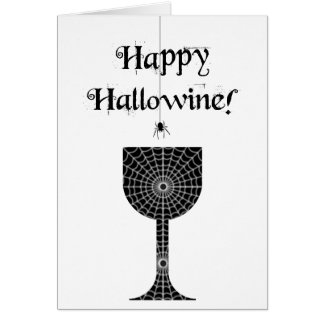 Happy Hallowine  Halloween Card