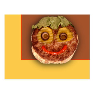 Happy Hamburger Postcard