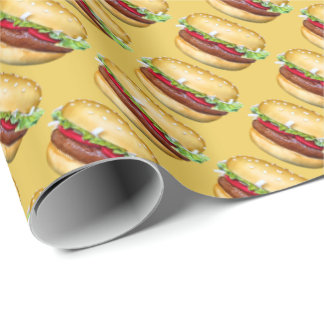 Happy Hamburger Wrapping Paper