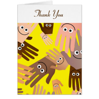 Happy Hands Wallpaper, Thank You Card