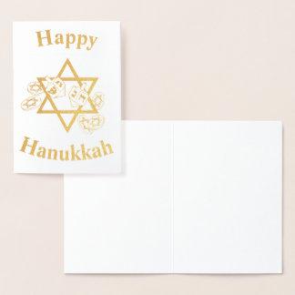 Happy Hannukah Foil Card