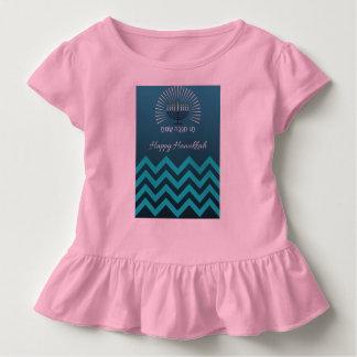 Happy Hannukah girl's ruffle shirt