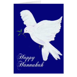 Happy Hannukah!-Peace Dove Card