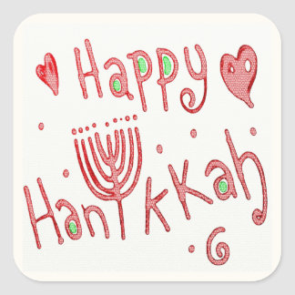 Happy Hannukah Square Sticker