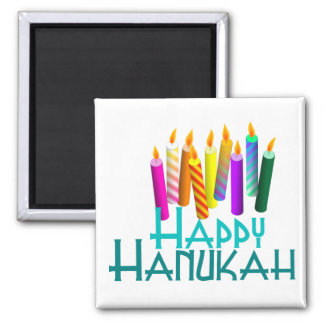 Happy Hanukah Candle Magnet