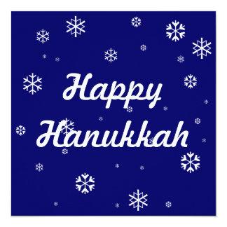 Happy Hanukkah * 13 Cm X 13 Cm Square Invitation Card
