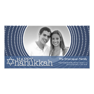 Happy Hanukkah  - 1 photo Photo Greeting Card