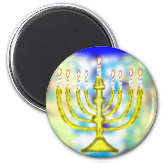 Happy Hanukkah 6 Cm Round Magnet
