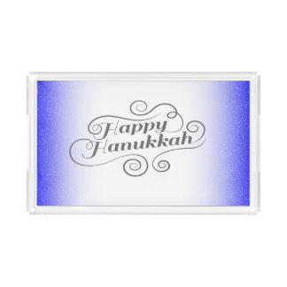 Happy Hanukkah Acrylic Tray