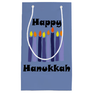 Happy Hanukkah Art Menorah Candles Gift Bag