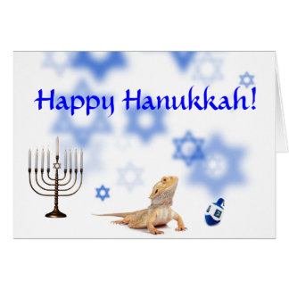 Happy Hanukkah Bearded Dragon card