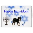 Happy Hanukkah Bernese Mountain Dog Card