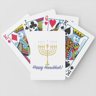 Happy Hanukkah Bicycle Playing Cards