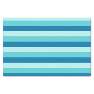 Happy Hanukkah | Blue and Teal Striped Pattern Tissue Paper