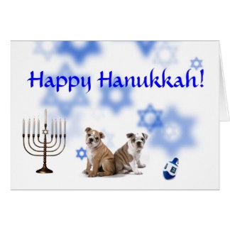 Happy Hanukkah Bulldog Greeting Cards