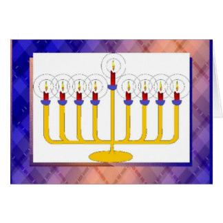 Happy Hanukkah Candle Stick Greeting Card