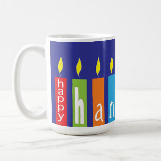 Happy Hanukkah Candles Mug
