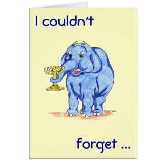 Happy Hanukkah Card with Cute Elephant