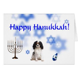 Happy Hanukkah Cavalier King Charles Spaniel Greeting Card